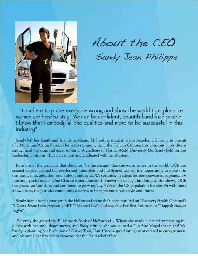 sandy bio page